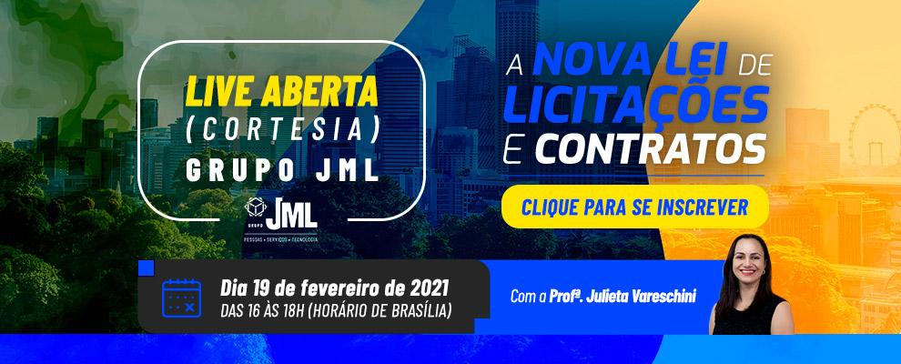 LIVE GRATUITA - NOVA LEI DE LICITAÇÕES E CONTRATOS!